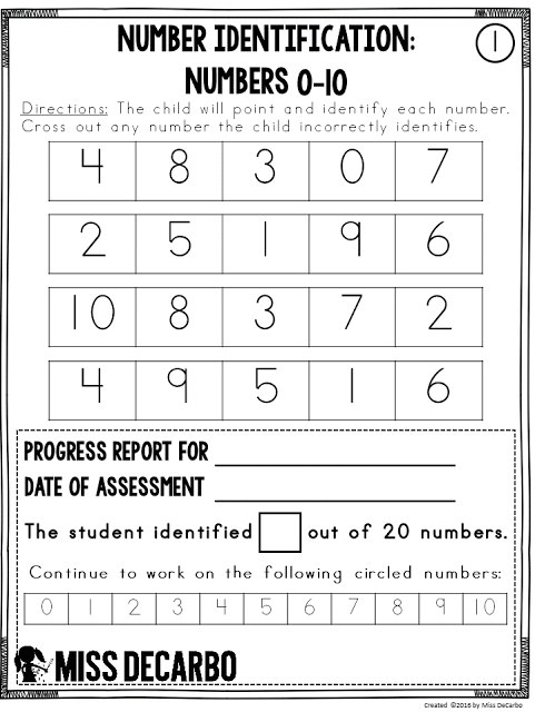 Free Math Assessment Sample: Using Data to Drive Math Instruction - Easy Organization and Assessments