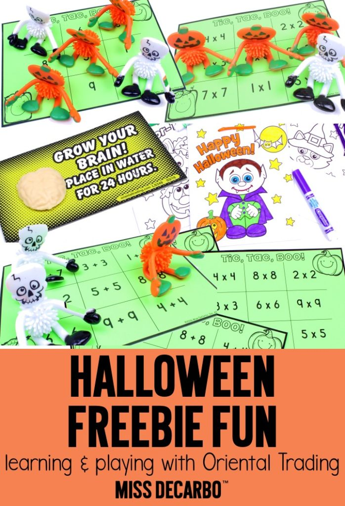 Halloween Freebie Fun: learning games and free printables for classroom Halloween parties or Halloween theme days. Get two FREE growth mindset lesson plans and printables from Miss DeCarbo in this post!