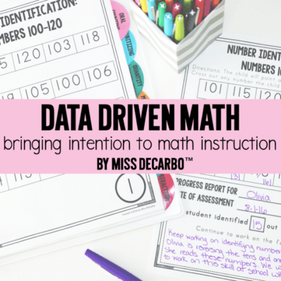 Data Driven Math: Bringing Intention To Math Instruction