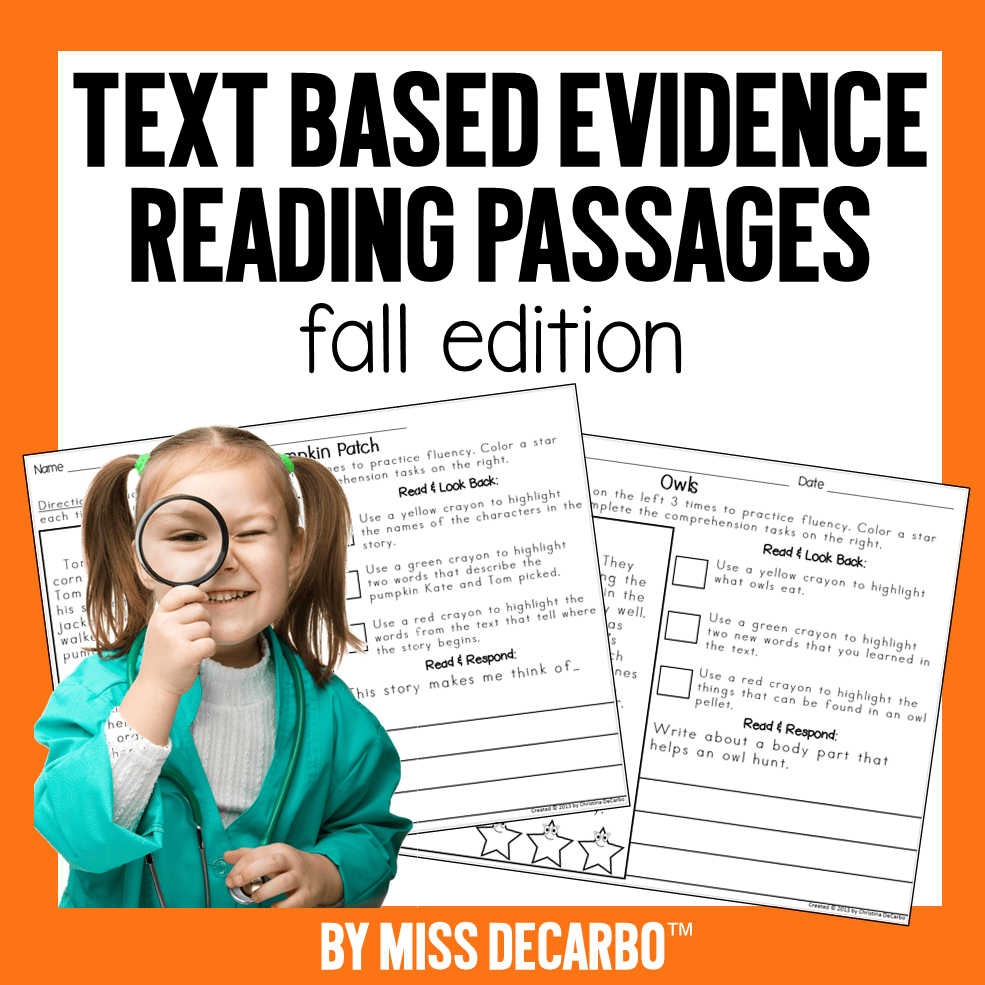 Fall Text Evidence Passages