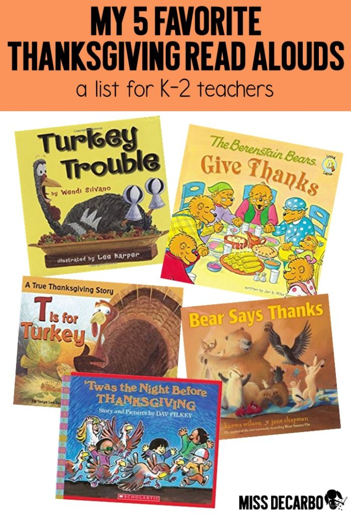 A collection of Thanksgiving literacy ideas, resources, books, websites, apps, activities, and freebies for K-2 Teachers