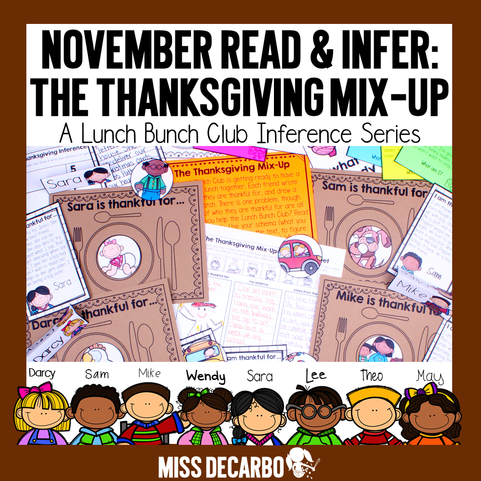 Thanksgiving inference activity: November Read and Infer