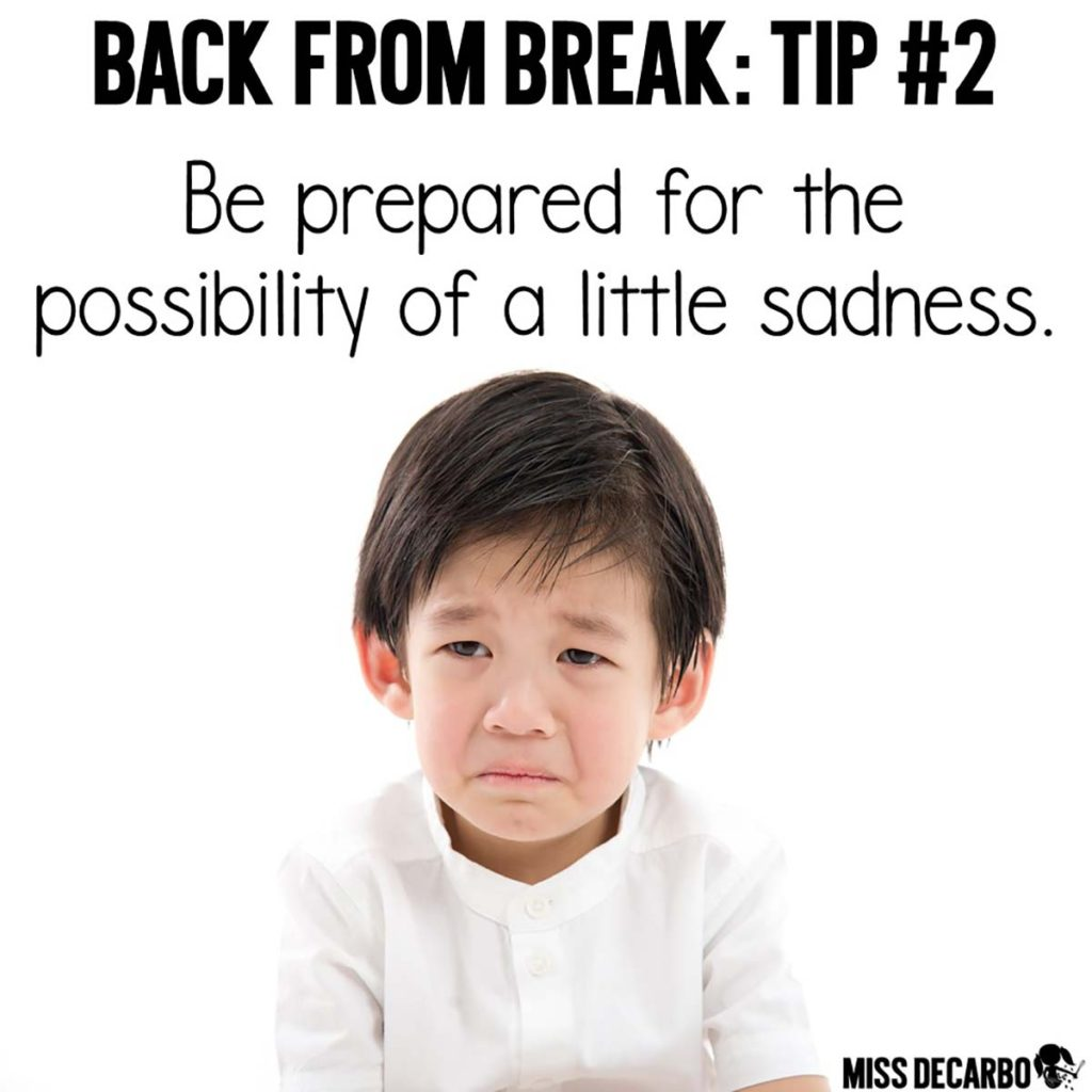 5 Teacher Tips for the First Day Back From Winter Break: Simple and Important Reminders for Primary Teachers - Miss DeCarbo shares classroom management ideas for a smooth transition back to school. Learn why to intentionally add white space to your lesson plans, how to eliminate stress during morning work, and what routines, procedures, and rules to spend time reviewing.
