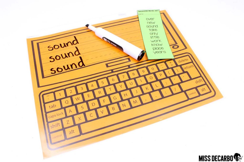 Keyboard Words - 20 Word Work Ideas for Sight Word Spelling Practice (with freebies!)