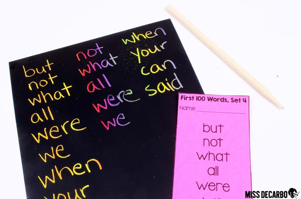 scratch paper word work - 20 Word Work Ideas for Sight Word Spelling Practice (with freebies!)
