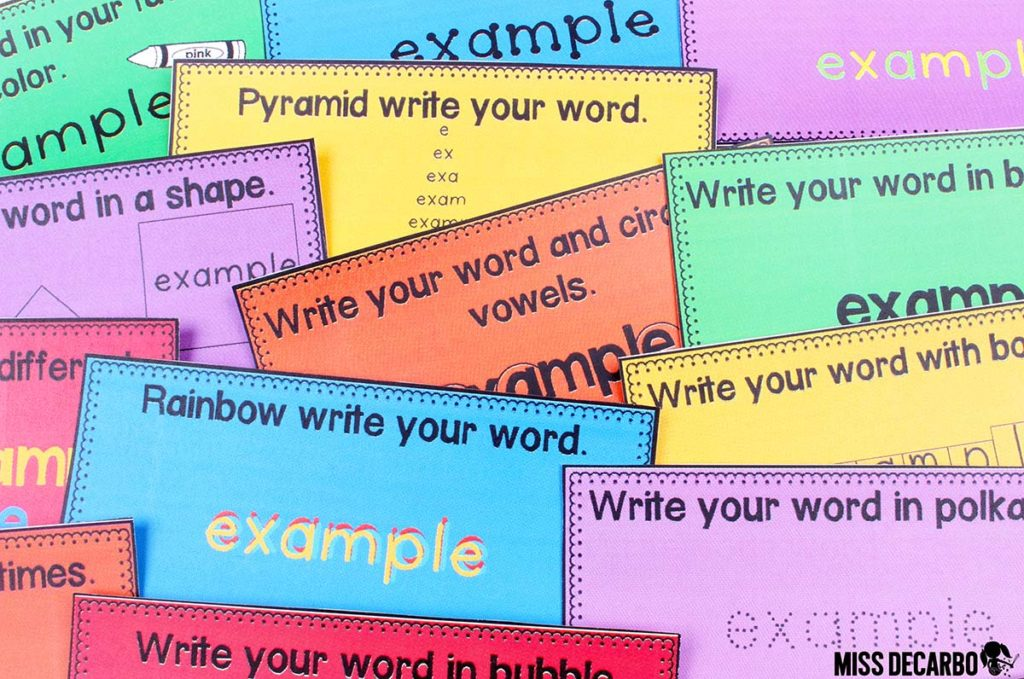 20 Word Work Ideas for Sight Word Spelling Practice (with freebies!)