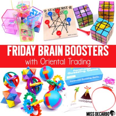 Brain Booster Buckets with Oriental Trading