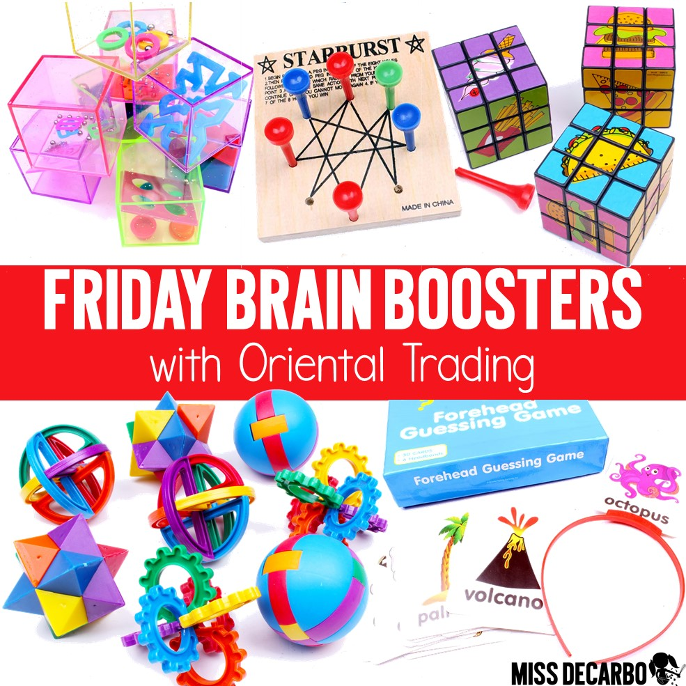 Learn how and why to use Brain Booster Buckets in your classroom to increase critical thinking, creativity, and problem-solving skills! These games and toys make the perfect critical thinking centers for your students' growing brains!