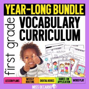 First Grade Vocabulary Curriculum