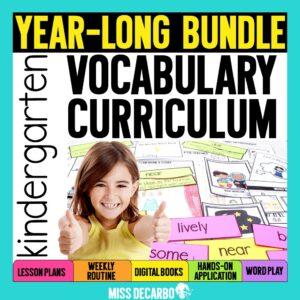 Kindergarten Vocabulary Curriculum