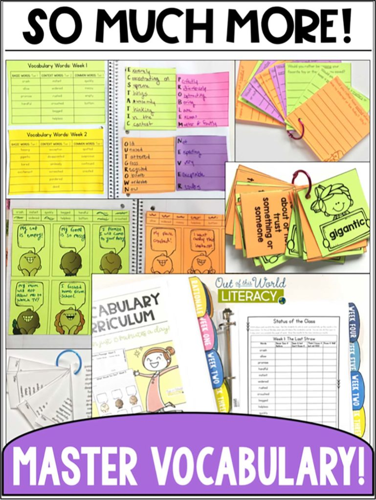 a full year vocabulary curriculum for grades 3-6