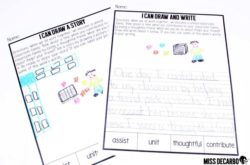 vocabulary writing activity - First grade vocabulary routine, lesson plans, activities, word play, assessments, writing, digital books and read alouds, discussion, and more!
