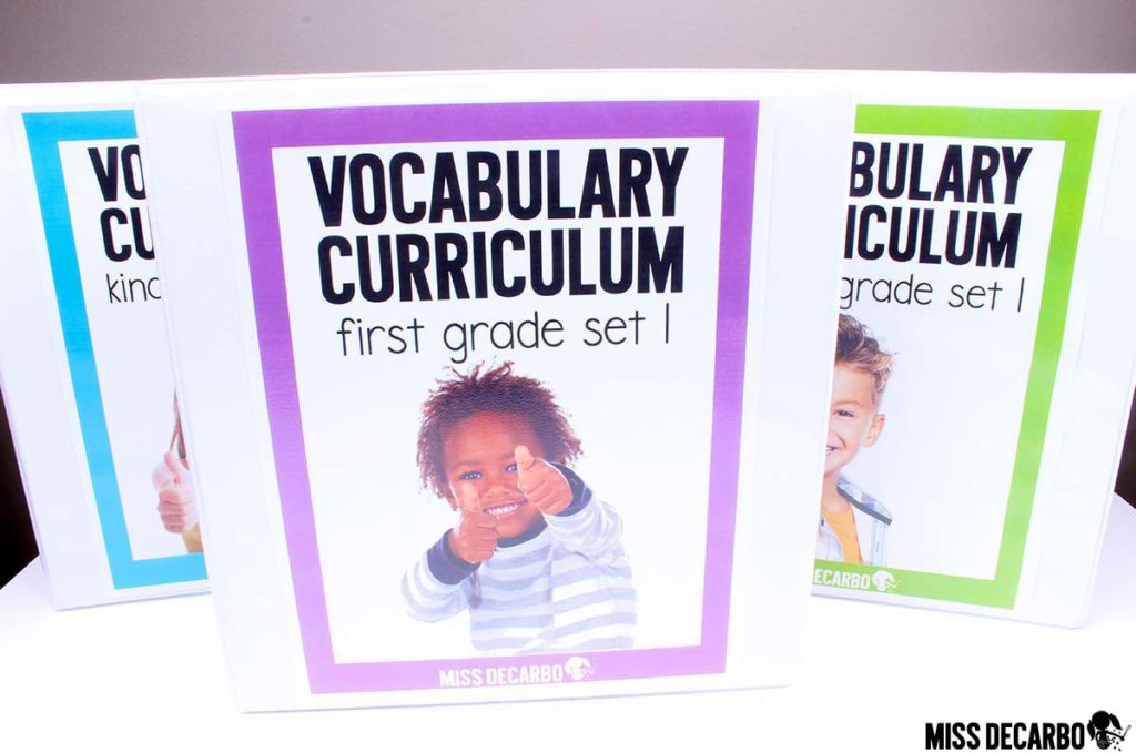 year-long first grade vocabulary curriculum