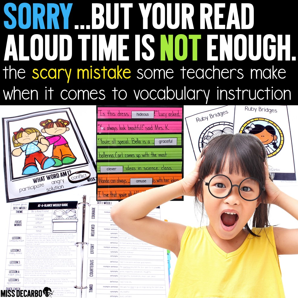 A weekly vocabulary routine that includes vocabulary word play, activities, digital books and passages, assessments, and vocabulary lesson plans. Learn about the mistake many teachers make when it comes to instruction, and how to fix it!