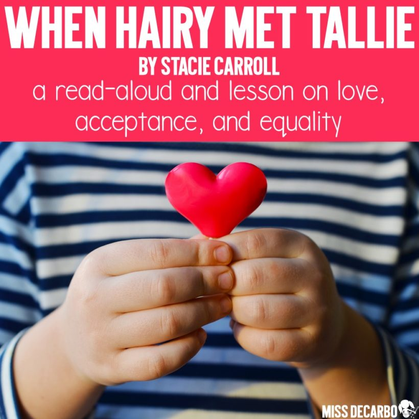 A review of the book When Hairy Met Tallie by Stacie Carroll, which tells a story of love and kindness. A free activity page that coordinates with the book is included in this blog post by Miss DeCarbo