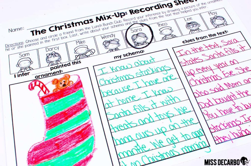 Christmas comprehension reading activity for inference skills! This inference reading lesson is differentiated for kindergarten, first grade, and second grade primary students.