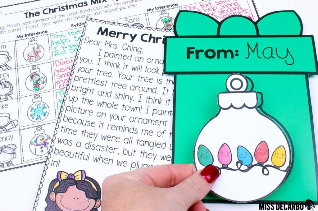 Christmas comprehension reading activity for inference skills - This inference reading lesson makes a perfect whole group reading lesson.