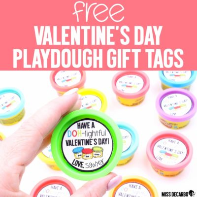 Valentine's Day Playdough Gift Tags