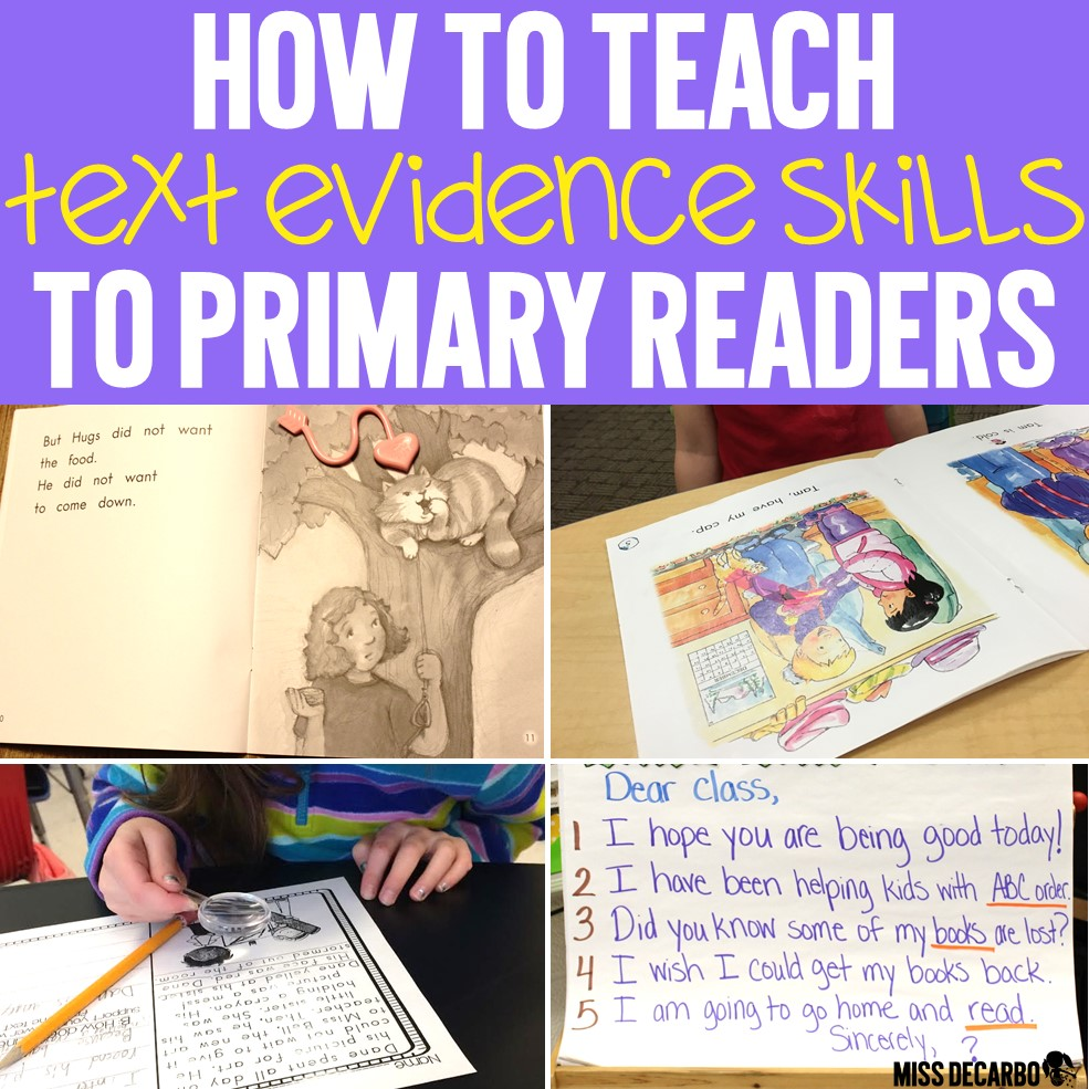 How to Teach Text Evidence Skills to Primary Readers