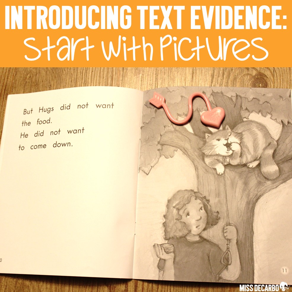 How to Teach Text Evidence Skills to Primary Readers: Learn how to teach beginning readers how to cite evidence from a text through picture books, wordless books, and illustrations.