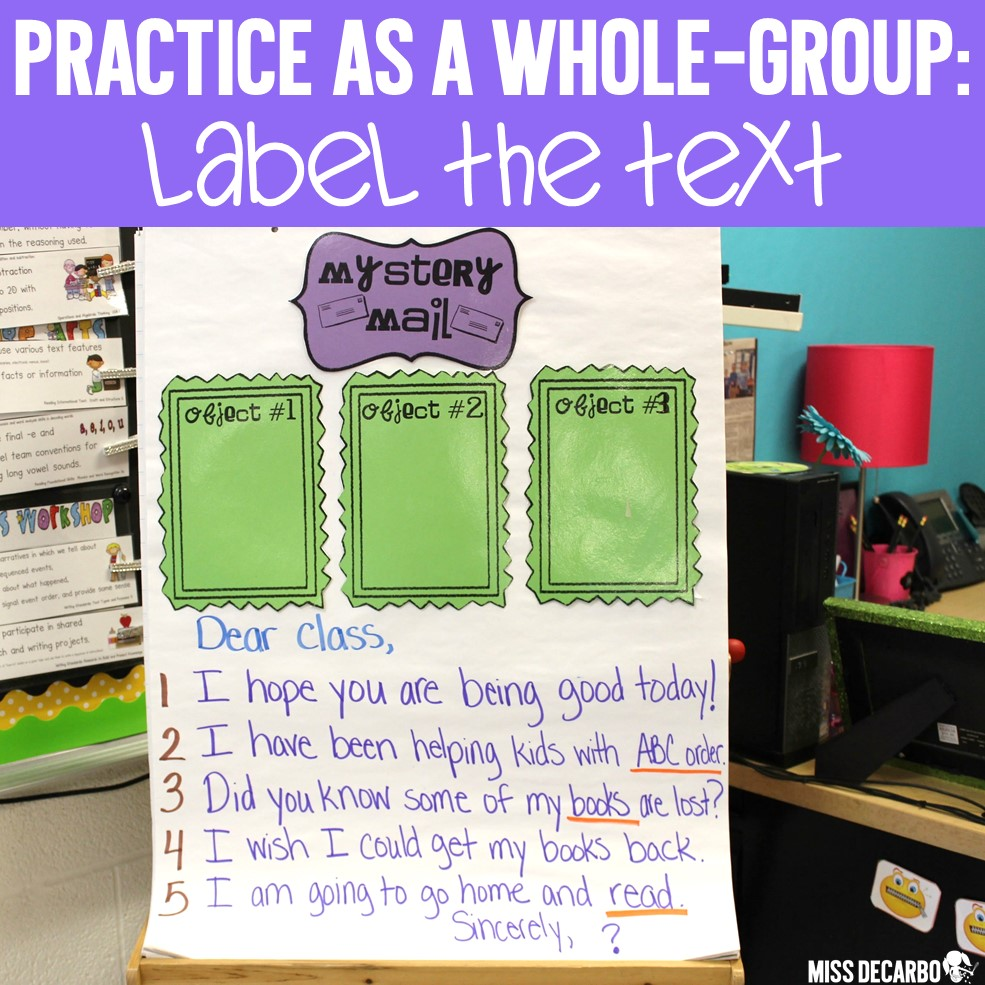 How to teach text evidence skills to primary readers! Number or label class poems, passages, or shared readings to allow students to refer back to the text in order to develop text evidence skills for comprehension.