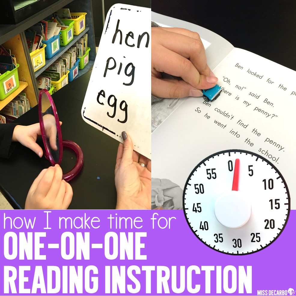 One-on-One Instruction During Small Groups - Miss DeCarbo