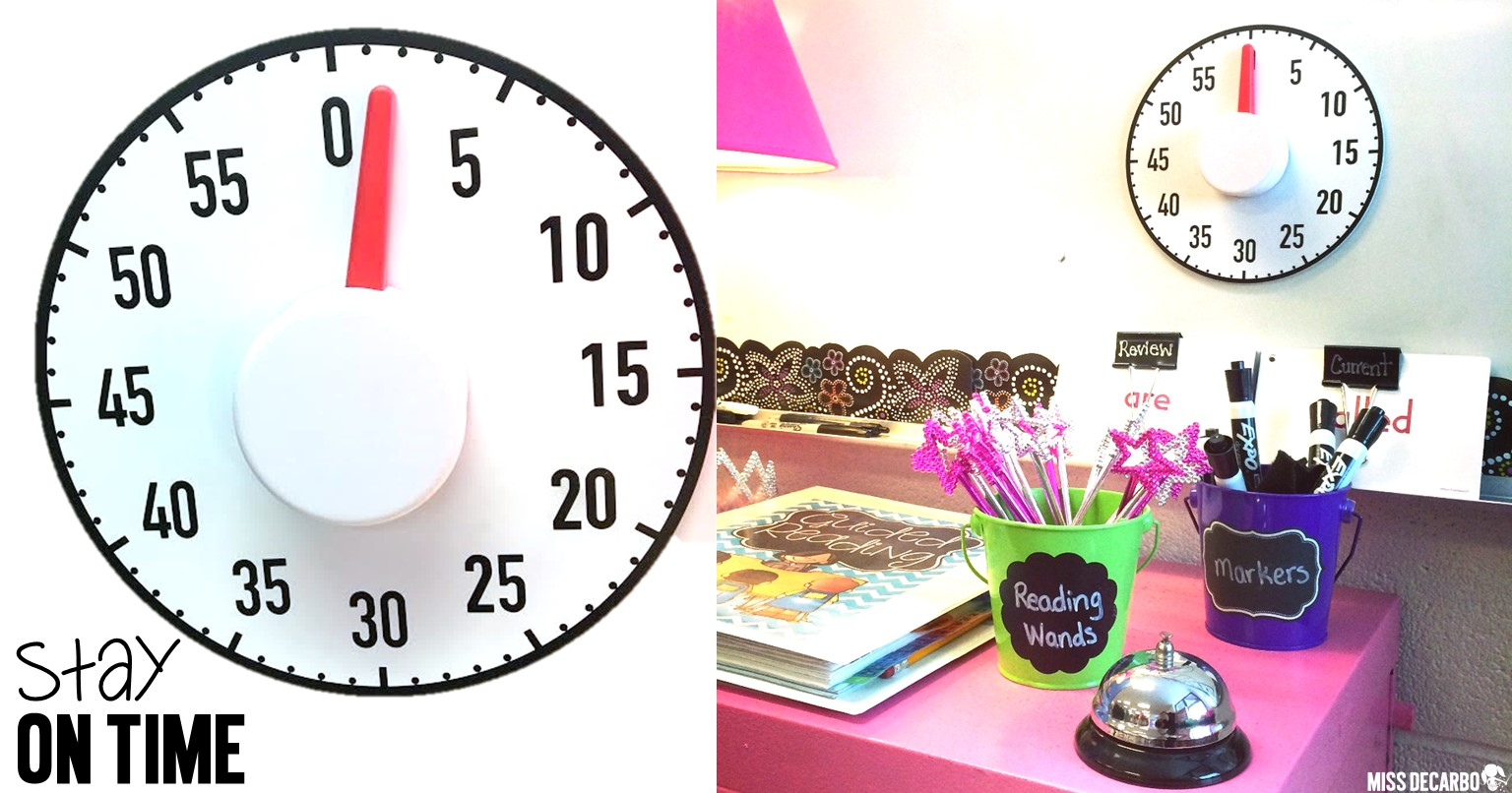 This big magnetic timer is perfect for staying focused during small group reading lessons in the classroom!