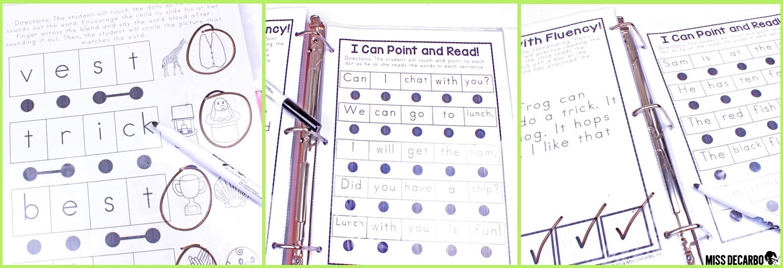 My No Prep Reading Intervention Binder is great to use for individual, 1:1 instruction and reading intervention. Work on letter sounds, letter ID, short vowels, blends, digraphs, and fluency!