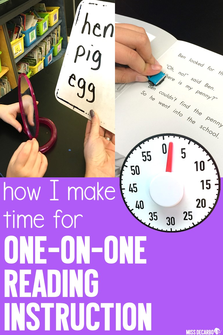 Learn how I make time for one-on-one reading instruction and reading intervention in the classroom. Learn how I make time for running records during small group reading and individual instruction for primary readers.