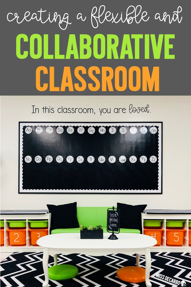 flexible seating options for a collaborative classroom learning environment