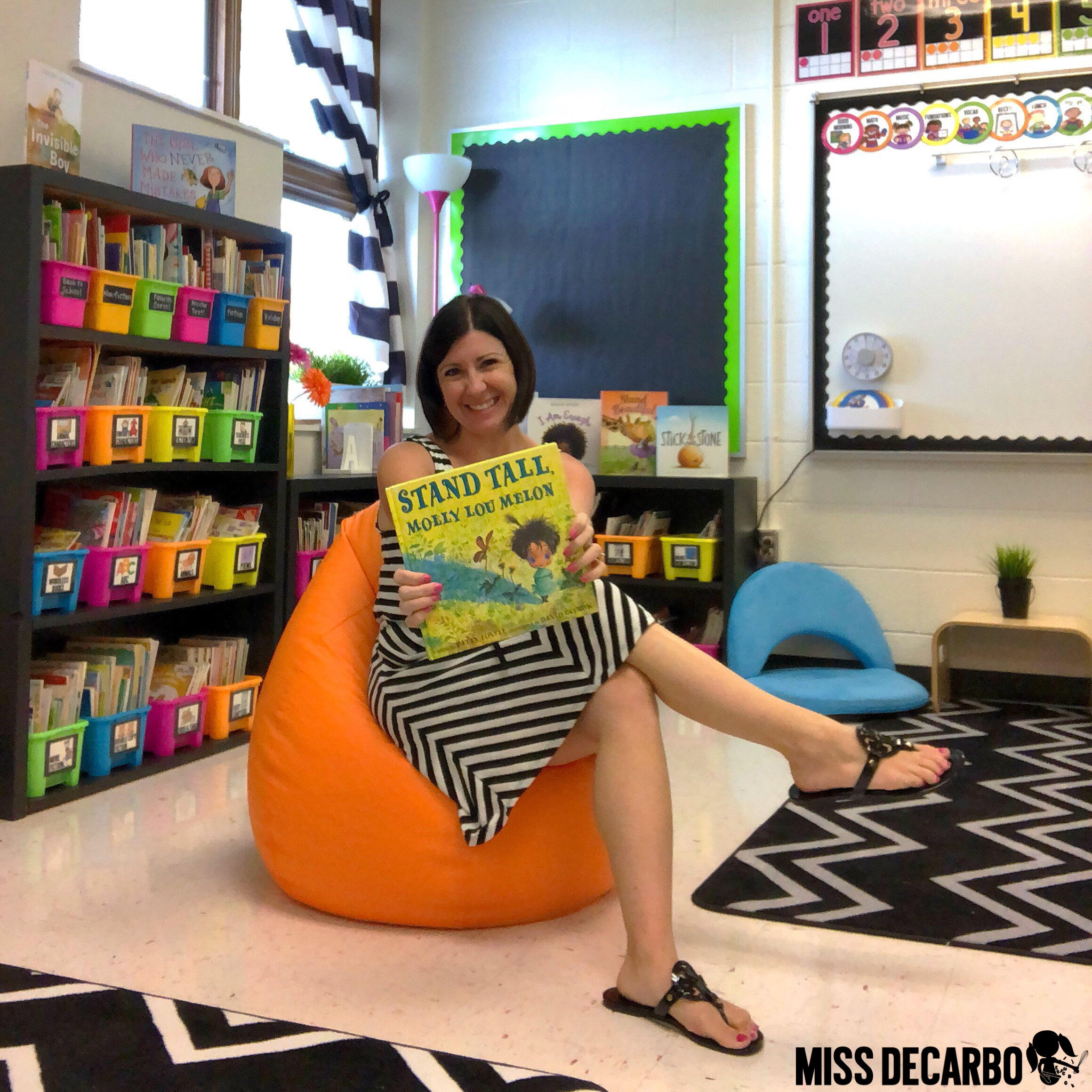 flexible seating beanbag chair from lakeshore for classroom design and classroom decor