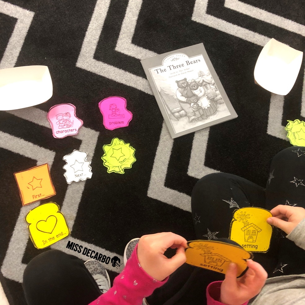 Use the retelling sandwich craft to practice retelling skills with a partner!