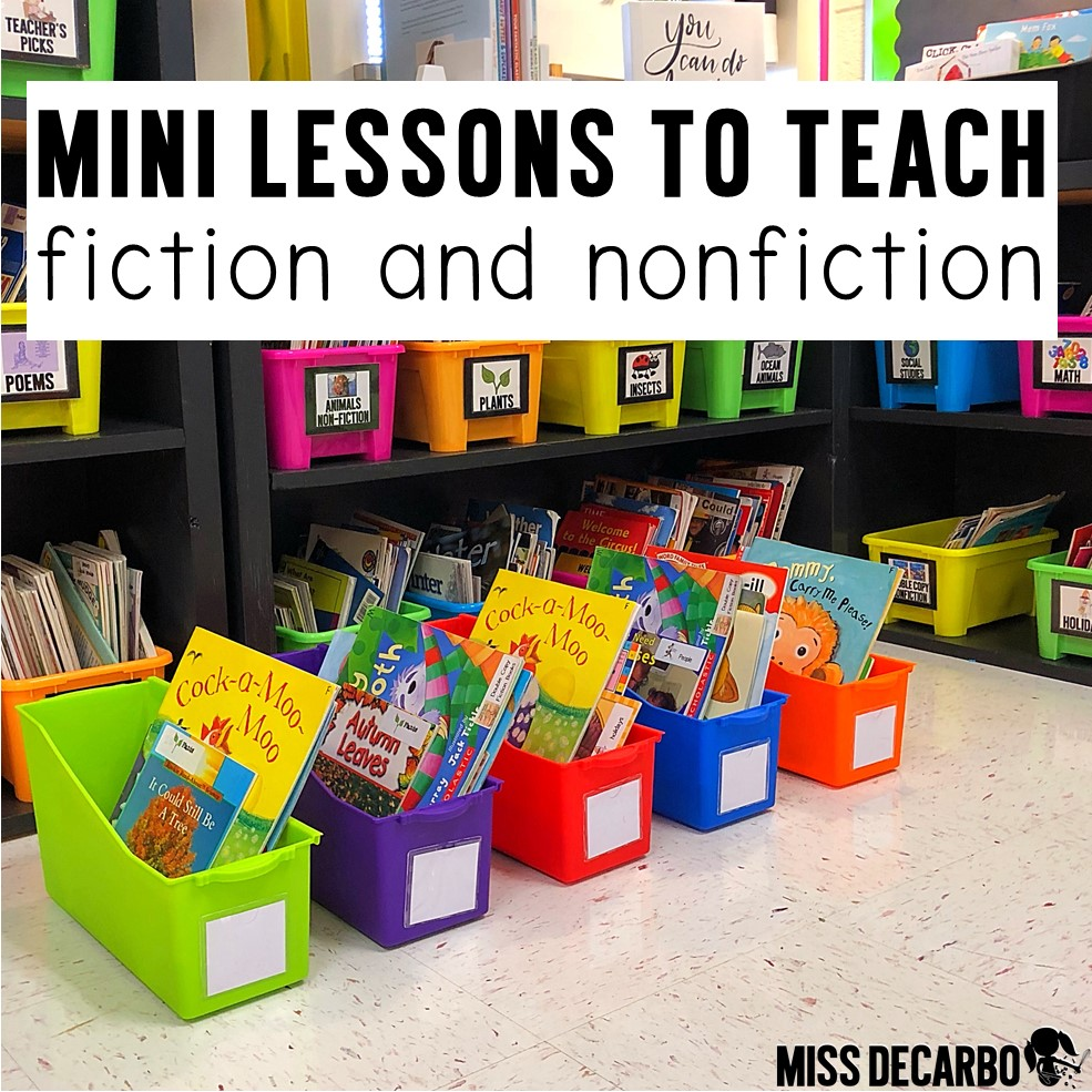 reading mini lessons to teach fiction and nonfiction text #firstgrade #readinglessons