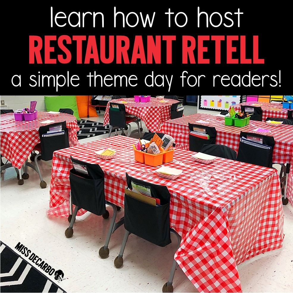 Restaurant Retell is a simple way to transform your classroom while you teach retelling activities to your students! This engaging theme day will motivate your readers and boost retelling skills!
