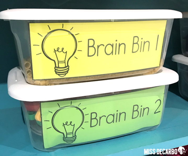 Download these FREE brain bin labels as a thank you gift for signing up for my email list!