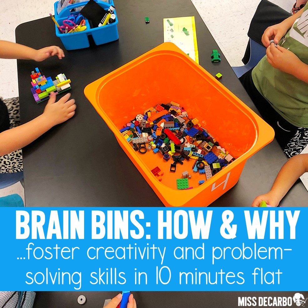 Brain bins are morning tubs that are integrated into the classroom to promote problem-solving, boost creativity, and engage students in open-ended creativity. Learn how Christina sets up and manages brain bins, and find TONS of ideas for morning tubs!