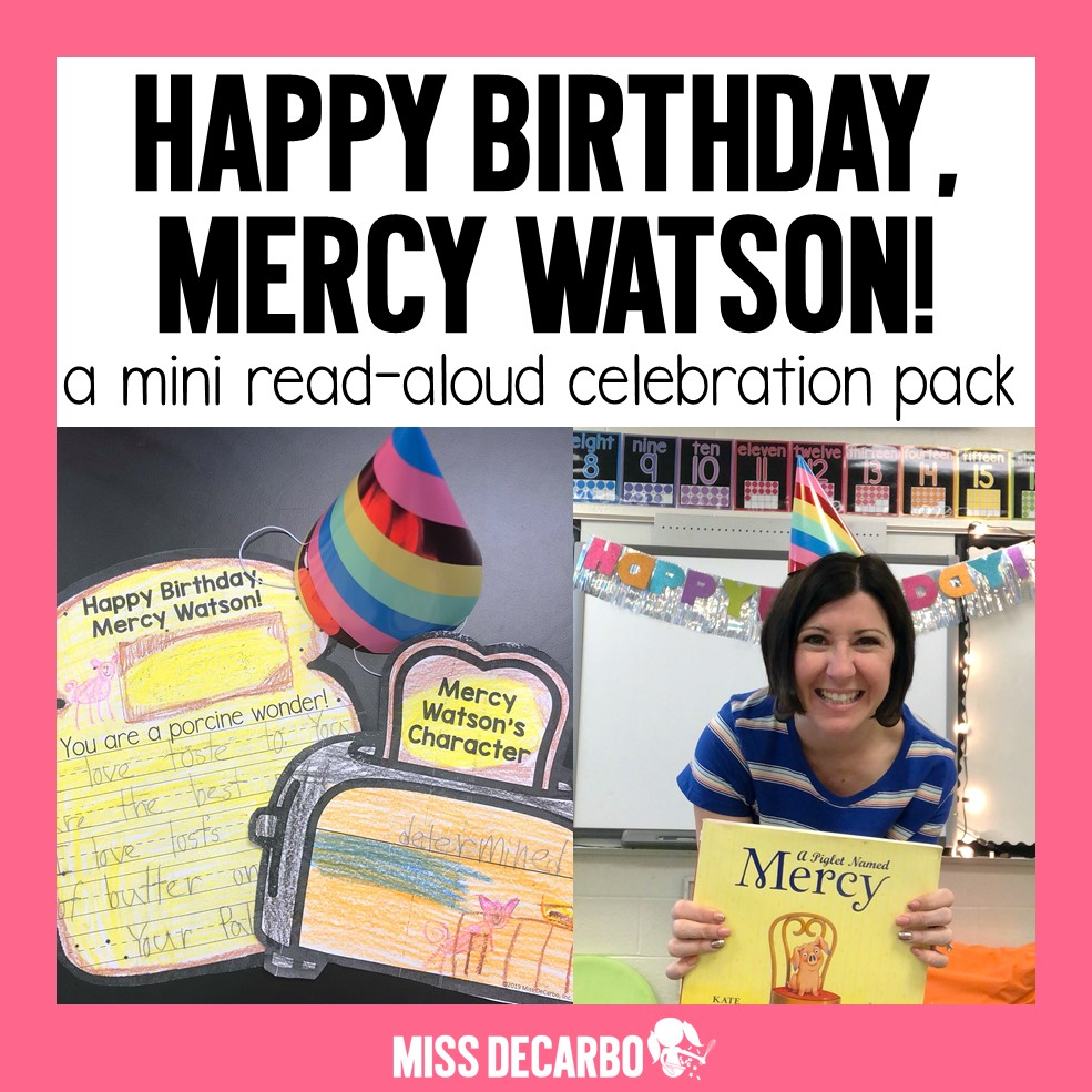A mini read aloud pack to celebrate the Mercy Watson book series!