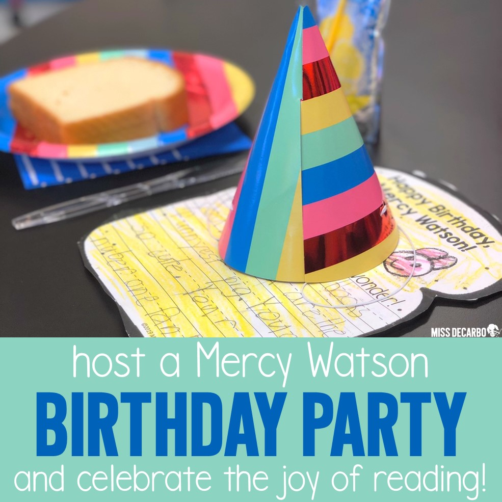 A Mercy Watson Classroom Birthday Party