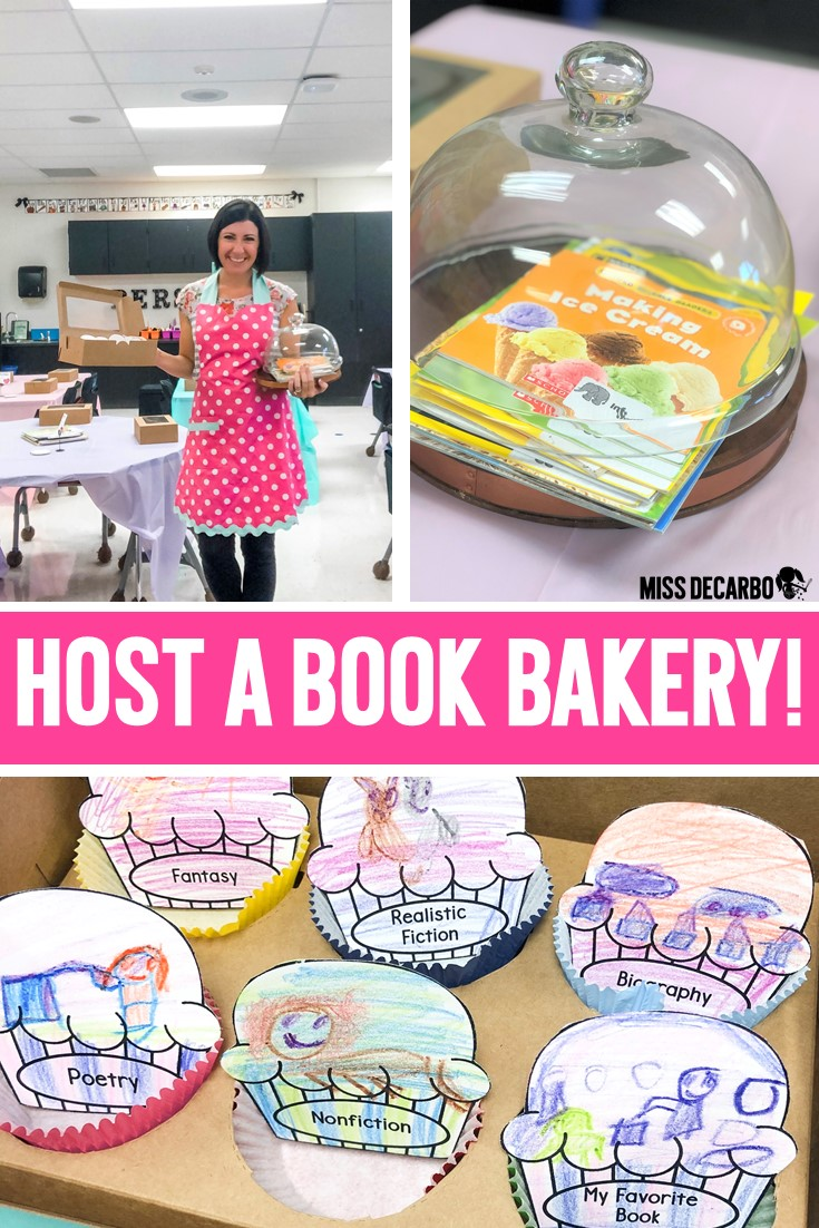 Host a book bakery in your classroom to teach students about different reading genres!