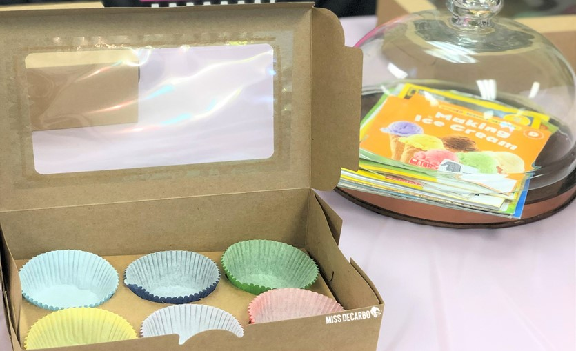 Students will love creating this cupcake bakery box as they study different reading genres during this easy mini classroom transformation!