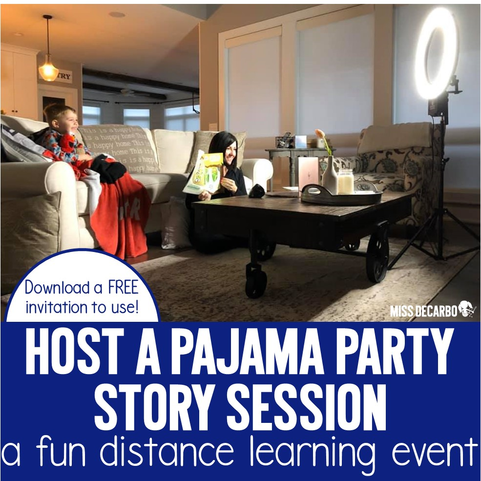 Host a Pajama Party Story Session for your students! It's a fun distance learning activity for your students and families!