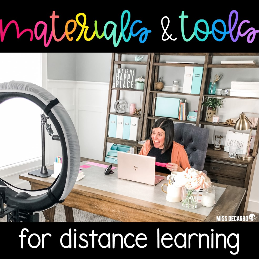 A helpful list of tools and materials that teachers can use for distance learning