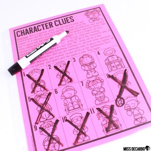 Character Clues is a partner game that is designed for socially distanced play. It is part of 12 games in my Indoor Recess Games for Social Distancing. These games are perfect for the classroom!