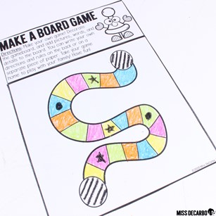 Make your own board game! This game template is part of my Indoor Recess Games for Social Distancing. These games are perfect for the classroom!
