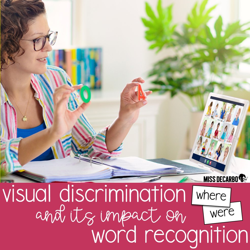 Visual discrimination plays an important role in our students' word recognition skills. Learn how to help your students recognize the subtle differences and similarities in words in order to increase sight word identification and word recognition skills.