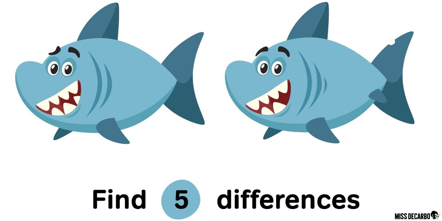 Can you spot 5 differences in this image? Activities such as this help to strengthen visual discrimination skills, which can also help students quickly recognize sight words that visually look similar, such as were and where.