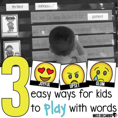 Three ways for kids to play with vocabulary words in the classroom. Teachers will love these easy and engaging vocabulary ideas and lessons!