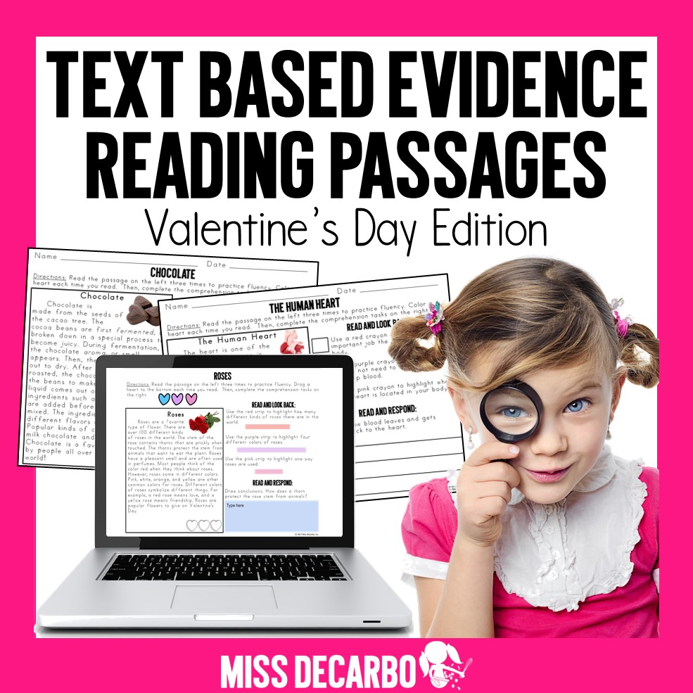 Valentine's Day Reading Passages