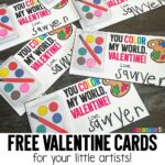 Free Valentine Cards for Little Artists