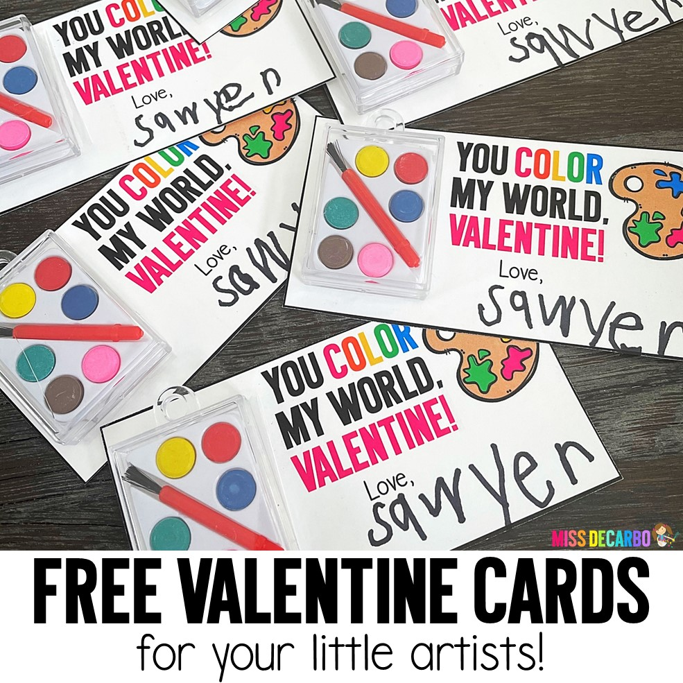 Free Valentine Cards for little artists!